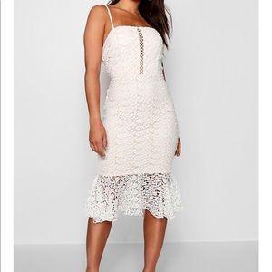 BooHoo White Lace Dress